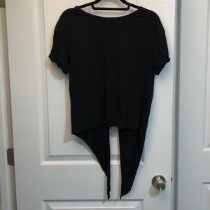 Zara Black T-Shirt with Back Cut